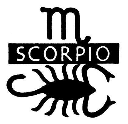 Scorpius / Scorpion / Akrep (24 Ekim-22 Kasım)  Mitolojide avcı Orion'u öldüren akrep bu burca ismini verir. Bu nedenle de gökyüzünde Akrep yükselirken Orion takımyıldızı ufkun altına iner, ikisi birlikte gökyüzünde bulunmazlar.