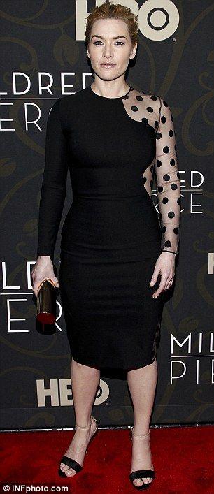 Yeni TV dizisi Milfred Place'in tanıtımı için düzenlenen organizasyona, Kate Winslet seksi bir elbise ile katıldı...