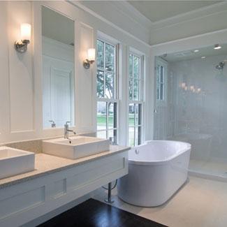 Beyaz banyolar ne kadar da zarif görünüyor.
