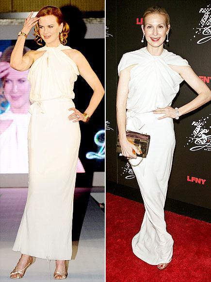 Nicole mü, Kelly mi?  Bize sorarsanız beyaz Lanvin elbise iki oyuncuya da çok yakışmış. Siz ne düşünüyorsunuz?