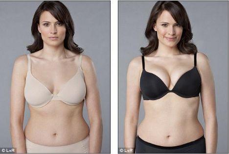 Göğüslerinizi dikleştirin   Ameliyat ortalama 2500 TL, doğru sutyeni seçmek ise 100 TL altında.   İçi sünger ya da sıvı dolgulu sutyenler, göğüslerinizi yukarı doğru iter ve form kazandırır. MagicForm, La Senza, Ten gibi ünlü markaların küçük göğüslü kadınlar için göğüsleri büyük gösteren, büyük göğüslü kadınlar için de göğüsleri toparlayan ve dikleştiren modelleri mevcut.