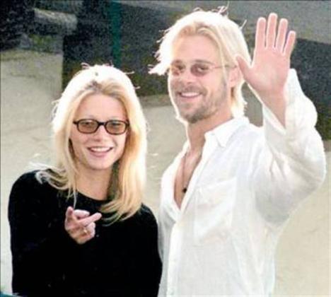 GWYNETH PALTROW  Brad Pitt ve Gwyneth Paltrow bir zamanların en yakıştırılan çiftiydi. Ama onlarında yolu ayrıldı.