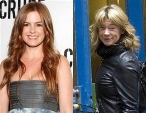 Isla Fisher ve Hannah Waterman   Fisher ve Waterman 1975 yılında dünyaya geldi. Ama aşırı kilo kaybı ve hızlı hayat yüzünden Waterman daha yaşlı görünüyor.