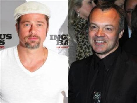 Brad Pitt ve Graham Norton   İki ünlü de 1963 yılında dünyaya geldi. Ama Pitt yaşıtından daha genç görünüyor.