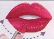 Çekici dudaklar  Dudaklarınızı hafifçe gerdirerek ruju öncelikle üst veya alt dudağınızın ortasına uygulayın. Daha sonra ruju köşelere doğru uygulamaya devam edin.