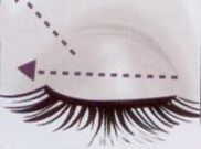 Etkileyici gözler  Göz farını açık bir tonunu kirpik çizgisinden kaş kemiğine doğru baz olarak uygulayın.