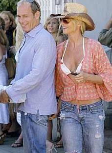 Michael Bolton ve eski nişanlısı Nicolette Sheridan.
