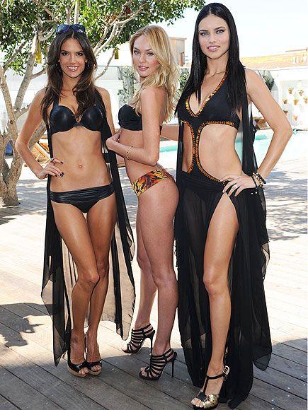 Victoria's Secrets melekleri, markanın yeni sezon ürünlerini tanıtıyor. Siyah ve sıcak renkler dikkat çekiyor.