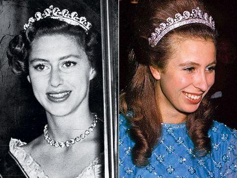 SCROLL Bu tacı Kraliçe Elizabeth, 1954 yılında kardeşi Prenses Margaret'a vermişti.