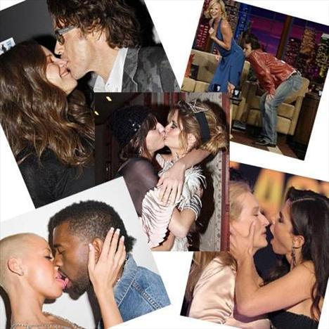 İyi bir öpücüğün faydaları saymakla bitmezken kötü bir öpücük sadece olay kahramanlarının değil, şahit olanların da pek hoşuna gitmeyebilir...   İşte ünlü isimlerin kahramanı olduğu en tuhaf öpücüklerden bazıları...