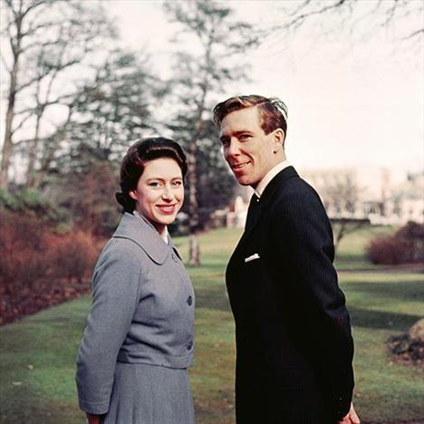 Kraliçe Elizabeth'in kızkardeşi Prenses Margareth ve Anthony Armstrong-Jones