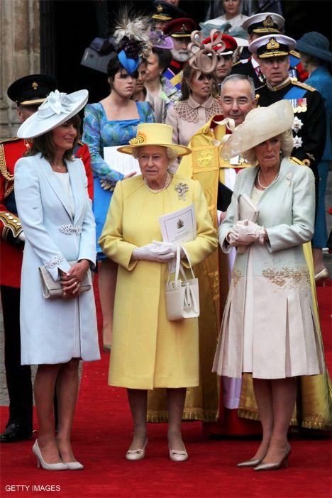 Kate Middleton'ın annesi Carole Middleton, Prens William'ın büyük annesi Kraliçe Elizabeth ve Camilla Parker