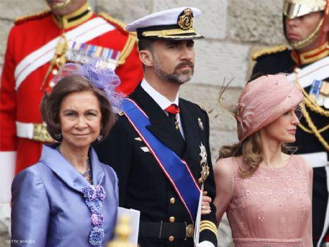 İspanya prensi Felipe, Prenses Letizia ve Kraliçe Sofia