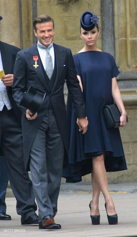 Ünlü futbolcu David Beckham ve eşi Victoria Beckham
