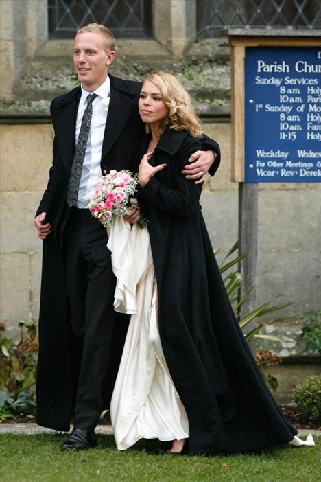 Billie Piper ve Laurence Fox 2008'deki evlilikleri için sade bir tören tercih etmişlerdi.