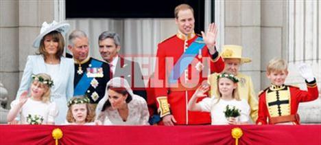Prens William ve Cambridge Düşesi Catherine Middleton, hava kuvvetlerinin yaptığı gösteriyi merakla izledi.