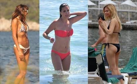 Bu yıl plajlar renkli görüntülere sahne oldu. Bakın kim hangi renk bikinisi ile yakalandı...