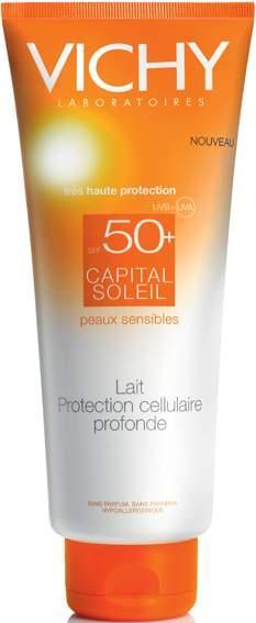 Hassas koruma  Vichy Capital Soleil Serisi, hassas ciltlerin güneşe karşı tolerans eksikliğini önlemek amacıyla UVA ve UVB ışınlarına karşı üst seviyede koruma sağlıyor. Antioksidan özellikli mineraller içeren ürünler, leke ve kırışıklık oluşumunu önlüyor.