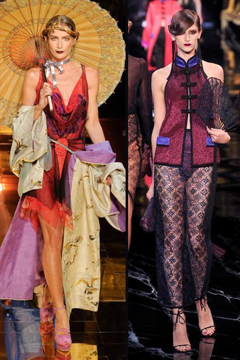 Carolina Herrera'dan Haider Ackerman'a kadar bütün tasarımcılar bu sezon ilhamlarını Uzakdoğu'dan aldılar. Siz de bu trendi Çin'den, Japonya'dan ve Kore'den esinlenilmiş kimono tarzı elbise ve bluzlar, çiçek desenleri ve kemerlerle uygulayabilirsiniz. Kendi Asya stilinizi oluştururken John Galliano ve Louis Vuitton'dan (yandaki resimde) da ilham alabilirsiniz.   Ayrıca size ilham verebilmek için Asya'dan bir çok güzel örnek de hazırladık...