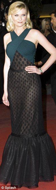 Kirsten Dunst'ın rodarte elbisesini şık ve iddialı bulduk.