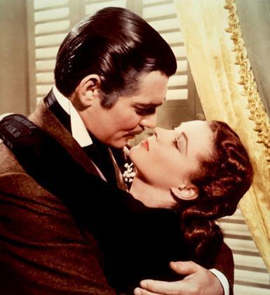 Clark Gable ve Vivien Leigh (Rüzgar Gibi Geçti)