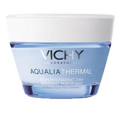 """NEMLENDİRİCİ  """"Su bazlı olduğu için yağlı ciltlere bir nemlendirici.""""  Vichy, Aqua Thermal nemlendirici, 50 ml  Fiyat : 52,90 TL"""