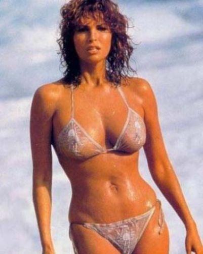 Raquel Welch'in gençlik yıllarından bir kare.