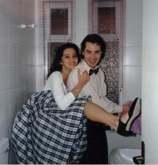 Fikret Kuşkan ve Hande Ataizi birbirlerine aşık oldukları dönemde.