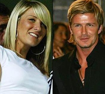 David Beckham ve Joanne.