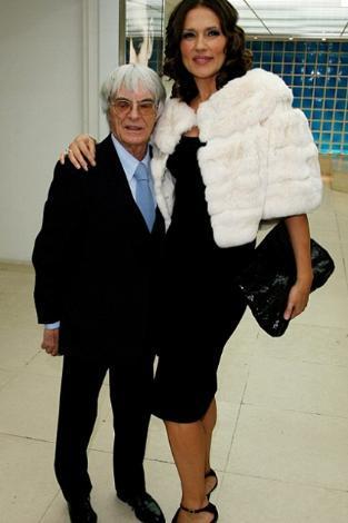 GÜZELLİK KRALİÇESİYLE EVLENDİ  F1'in patronlarından Bernie Eccleston da eski eşi Slavica'dan hayli kısaydı.