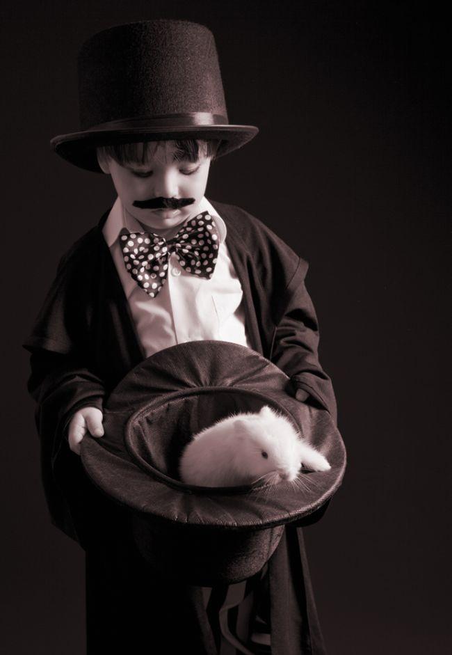Batuhan'ın sihirli şapkasından tavşan çıktı...