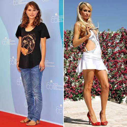 Natalie Portman ve Paris Hilton sizce nasıl görünüyorlar? İki ünlü isim de 1981 doğumlu.