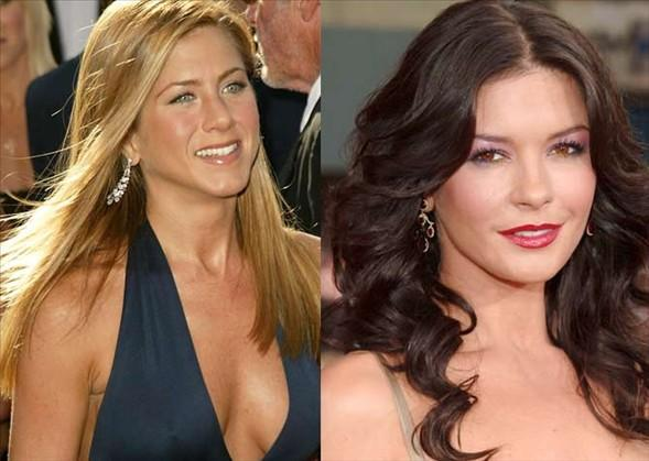 Jennifer Aniston ve Catherine Zeta Jones