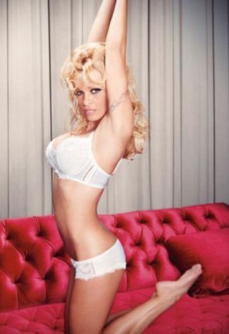 Bonita De Mas adlı iç giyim firmasının yeni koleksiyonu için objektif karşısına geçen Anderson'ın fotoğrafları photoshop uygulamasından geçirildi.