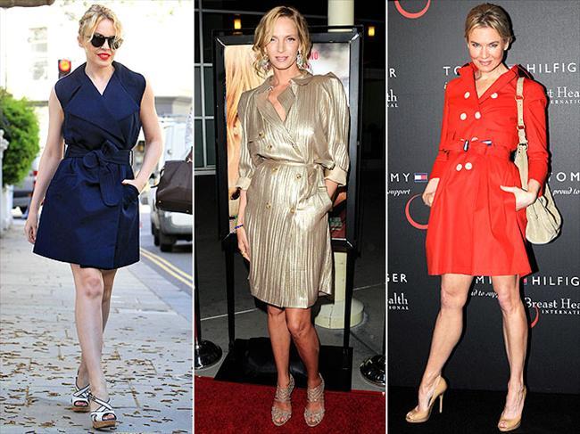 Trenç elbiseler İlk olarar Reese Witherspoon'da, sonda Kylie Minogue'da ve sonrasında da (kesinlikle son görüşümüz olmadığına eminiz) Uma  Thurman'da gördük. Çok sofistike ve elegan görünüyorlar. Şiddetle tavsiye ediyoruz.
