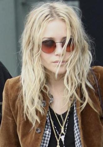 Mary Kate Olsen taranmamış saç modasının öncülerinden,