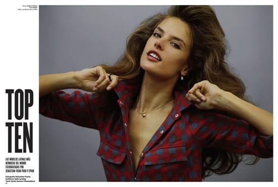 Derginin İspanya edisyonunda yer alan listede, Brezilyalı top model Alessandra Ambrosio birinci oldu. 29 yaşındaki Ambrosio, Sebastian Faena'nın yaptığı özel çekimde poz verirken, güzellik sırlarını da anlattı.