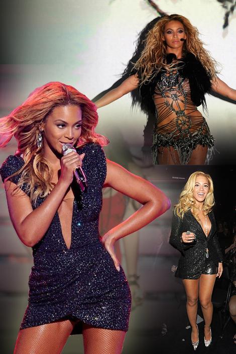 Beyonce sahne kostümlerinde de, katıldığı davetlerde de payet şıklığından vazgeçemiyor.