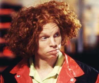 Carrot Top kariyerinin ilk yıllarında böyle bir görünüme sahipti.