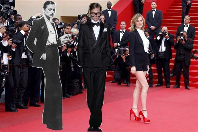 1.SMOKİN Smokin ile hem kadınsı hem de sofistike bir görüntü elde etmek için, Helmut Newton imzalı Le Smoking fotoğrafındaki gibi elinizde sigara, boş bir sokakta tek başınıza durmanız gerekmiyor. Gündüz pantolonu eteğe tercih eden kadınların korkulu rüyası 'davetlere elbise giyilir' tabusu 1966 yılında Yves Saint Laurent tarafından yıkıldığından bu yana, gerçek stil sahibi kadınların bir numaralı tercihi olan smokini (ve smokin havalı tüm şık takımları) iyi taşıyabilmek için seçkin bir umarsızlık ve biraz da iyi bir duruş yeterli. Ve tabii ki sıkıca geriye toplanmış saçların, içine giyilmemiş bluzun ve çok yüksek topuklu stilettoların da etkisini göz ardı etmek mümkün değil.  Üzerinizde jilet gibi bir smokin, elinizde şampanya kadehiniz ve yüzünüzde davetteki diğer kadınlardan daha havalı gözüktüğünüzü bilmenin verdiği hafif bir gülümseme... Gece başlıyor.
