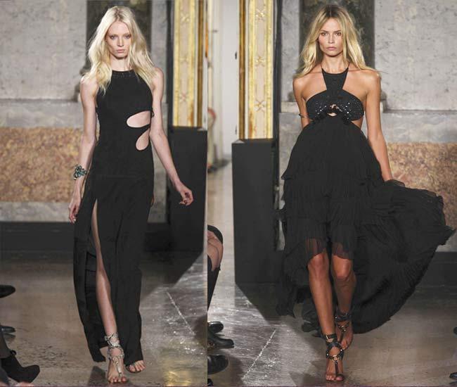 5.SEKSİ DETAY Emilio Pucci'nin tasarımcısı Peter Dundas'ı ve PR ekibini ayakta alkışlıyoruz. Bu sene Pucci giymeyen tek bir ünlü bırakmayan marka, kesik detaylı gece elbiselerinin de geri dönmesine öncülük etti. Gwyneth Paltrow'un kusursuz vücudunu (teşekkürler Tracy Anderson) biraz fazla gözler önüne seren beyaz Pucci'si halen tartışıladursun Julia Restoin-Roitfeld'in siyah elbisesi bir dönemin Gianni Versace'sine ultra-feminen gönderme yapıyor. Bu enfes elbiselerin ihtiyacı olan tek aksesuar ise bir adet gym üyelik kartı.
