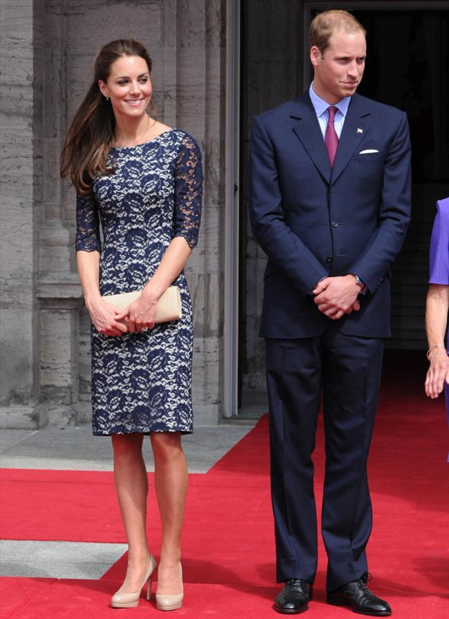 Kate Middleton'ın Erdem imzalı bir başka elbisesi.