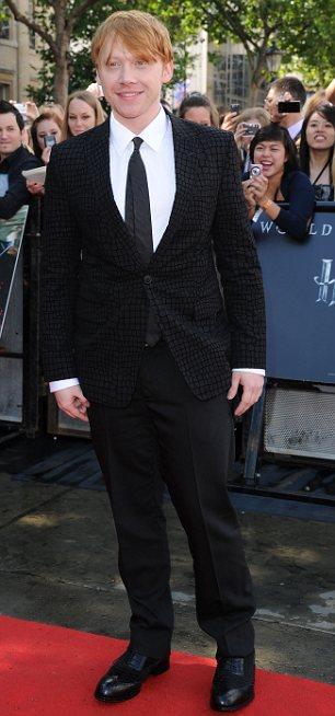 Rupert Grint, kırmızı halıda ilk görünen isimlerdendi.