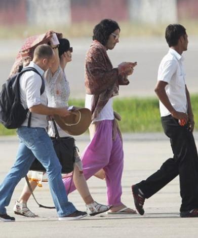Katy Perry ve Russell Brand balayını da evlendikleri Hindistan'da geçirdi.  Kaynak: Hürriyet