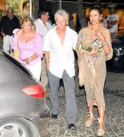 Michael Douglas ve eşi Catherine Zeta Jones.