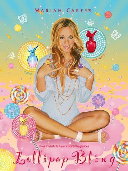 MARIAH CAREY: LOLLIPOP BLING Şarkıcının üç farklı aromadan oluşan oldukça tatlı kokulu parfümünün esin kaynağı, eşi Nick'in ona yaptığı evlenme teklifiymiş.