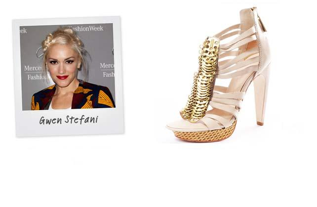 Ünlü: Gween Stefani - Marka: L.A.M.B Neden sevdik?: Süper cool işlemeleri ve yüksek topukları bu ayakkabıyı bir arzu nesnesine dönüştürmeye yeter de artar bile....