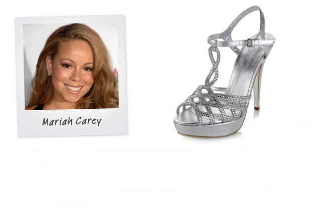 Ünlü: Mariah Carey - Marka: Mariah Carey for HSN Neden sevdik?: Metalic + yüksek bir platform + seksi bir tasarım = tüm kafaları size çevirecek bir ayakkabı.