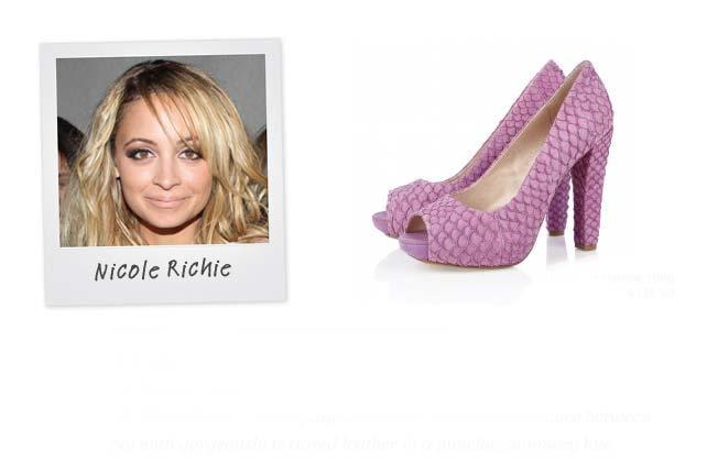 Ünlü: Nicole Ritchie - Marka: House of Harlow Neden sevdik?: Bu platform ayakkabılar zarafet ve başkaldırı arasında çok iyi bir yerde dengede duruyor.