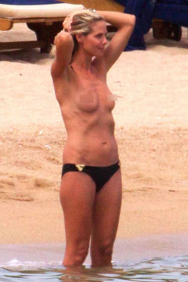 Heidi Klum'un üstsüz tatili - 36